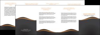 imprimerie depliant 4 volets  8 pages  web design noir fond noir couleur noir MIF71833