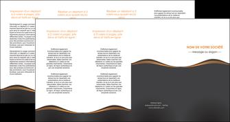 cree depliant 4 volets  8 pages  web design noir fond noir couleur noir MIF71837