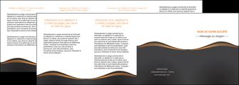 realiser depliant 4 volets  8 pages  web design noir fond noir couleur noir MIF71839