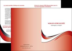 creer modele en ligne depliant 2 volets  4 pages  web design rouge fond rouge couleur chaude MLGI72109