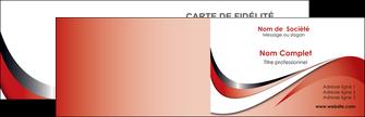 personnaliser modele de carte de visite web design rouge fond rouge couleur chaude MLGI72111