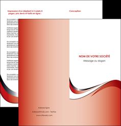 realiser depliant 2 volets  4 pages  web design rouge fond rouge couleur chaude MLGI72131