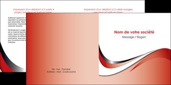 impression depliant 2 volets  4 pages  web design rouge fond rouge couleur chaude MLGI72133