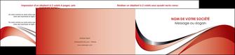 impression depliant 2 volets  4 pages  web design rouge fond rouge couleur chaude MLGI72139
