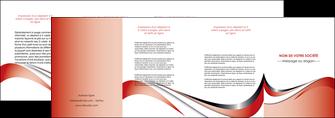 personnaliser maquette depliant 4 volets  8 pages  web design rouge fond rouge couleur chaude MLGI72145