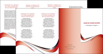 creer modele en ligne depliant 4 volets  8 pages  web design rouge fond rouge couleur chaude MLGI72149