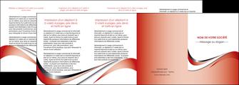 creer modele en ligne depliant 4 volets  8 pages  web design rouge fond rouge couleur chaude MLGI72151