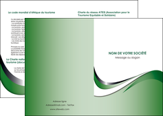 modele depliant 2 volets  4 pages  web design fond vert abstrait abstraction MLGI72161