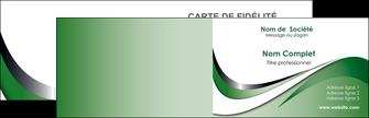 faire modele a imprimer carte de visite web design fond vert abstrait abstraction MLGI72163