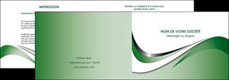 maquette en ligne a personnaliser depliant 2 volets  4 pages  web design fond vert abstrait abstraction MLGI72171