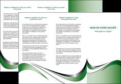 maquette en ligne a personnaliser depliant 3 volets  6 pages  web design fond vert abstrait abstraction MLGI72181