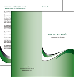 impression depliant 2 volets  4 pages  web design fond vert abstrait abstraction MLGI72183