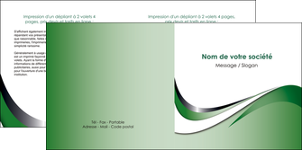 personnaliser modele de depliant 2 volets  4 pages  web design fond vert abstrait abstraction MLGI72185
