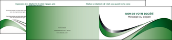 modele en ligne depliant 2 volets  4 pages  web design fond vert abstrait abstraction MLGI72191