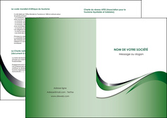 modele depliant 2 volets  4 pages  web design fond vert abstrait abstraction MLGI72195