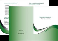 modele depliant 2 volets  4 pages  web design fond vert abstrait abstraction MLGI72195
