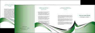 personnaliser maquette depliant 4 volets  8 pages  web design fond vert abstrait abstraction MLGI72197