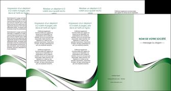 maquette en ligne a personnaliser depliant 4 volets  8 pages  web design fond vert abstrait abstraction MLGI72201