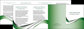 faire depliant 4 volets  8 pages  web design fond vert abstrait abstraction MLGI72203