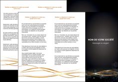 Commander Plaquette entreprise  reliser-plaquette Dépliant 6 pages pli accordéon DL - Portrait (10x21cm lorsque fermé)