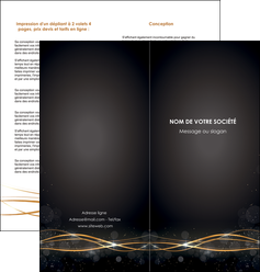 creer modele en ligne depliant 2 volets  4 pages  abstrait abstraction design MLIG72235