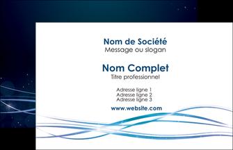 creation graphique en ligne carte de visite fond  bleu couleurs froides structure en bleu MIF72331