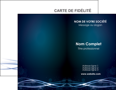imprimerie carte de visite fond  bleu couleurs froides structure en bleu MIF72341