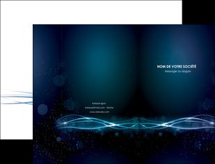 exemple pochette a rabat fond  bleu couleurs froides structure en bleu MIF72343