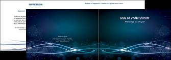 cree depliant 2 volets  4 pages  fond  bleu couleurs froides structure en bleu MIF72347