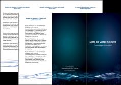 imprimer depliant 3 volets  6 pages  fond  bleu couleurs froides structure en bleu MIF72357
