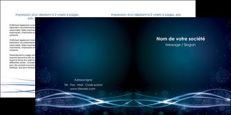 imprimerie depliant 2 volets  4 pages  fond  bleu couleurs froides structure en bleu MIF72361