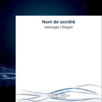 personnaliser modele de flyers fond  bleu couleurs froides structure en bleu MIF72363