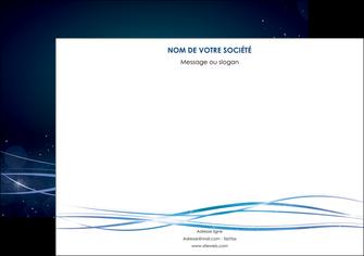 personnaliser modele de flyers fond  bleu couleurs froides structure en bleu MIF72365
