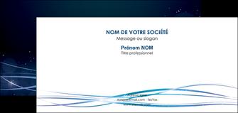 impression carte de correspondance fond  bleu couleurs froides structure en bleu MIF72369