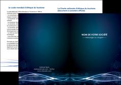 creer modele en ligne depliant 2 volets  4 pages  fond  bleu couleurs froides structure en bleu MIF72371
