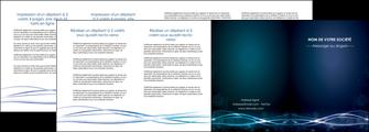 personnaliser maquette depliant 4 volets  8 pages  fond  bleu couleurs froides structure en bleu MIF72375
