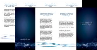 cree depliant 4 volets  8 pages  fond  bleu couleurs froides structure en bleu MIF72379