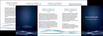 exemple depliant 4 volets  8 pages  fond  bleu couleurs froides structure en bleu MIF72381