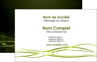 personnaliser modele de carte de visite fond vert structure en vert abstrait MIF72383