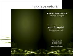maquette en ligne a personnaliser carte de visite fond vert structure en vert abstrait MIF72393