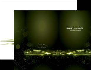 impression pochette a rabat fond vert structure en vert abstrait MIF72395