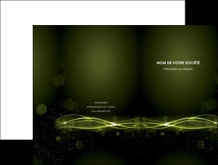realiser pochette a rabat fond vert structure en vert abstrait MIF72397