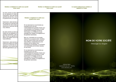 realiser depliant 3 volets  6 pages  fond vert structure en vert abstrait MIF72409