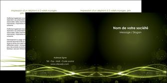 faire depliant 2 volets  4 pages  fond vert structure en vert abstrait MIF72413