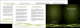 personnaliser modele de depliant 4 volets  8 pages  fond vert structure en vert abstrait MIF72427