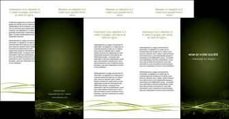 personnaliser maquette depliant 4 volets  8 pages  fond vert structure en vert abstrait MIF72431