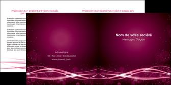 modele depliant 2 volets  4 pages  rose rose fushia couleur MLGI72465