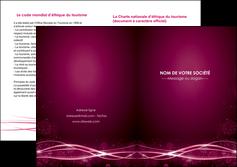 maquette en ligne a personnaliser depliant 2 volets  4 pages  rose rose fushia couleur MLGI72475