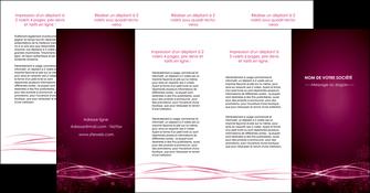 personnaliser modele de depliant 4 volets  8 pages  rose rose fushia couleur MLGI72483