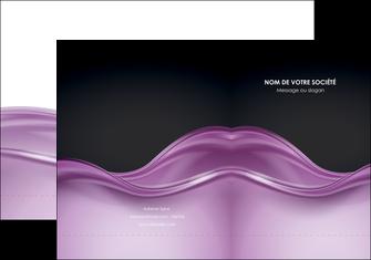 faire modele a imprimer pochette a rabat web design violet fond violet couleur MLGI72517